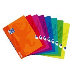 OXFORD SCHOOL CLASSIC OPENFLEX A4 Tapa de plástico libreta grapada 5x5 con margen 48 Hojas SURTIDO