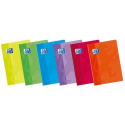 OXFORD SCHOOL CLASSIC A4 Tapa Blanda Libreta grapada milimetrado 3X3X16 con margen 48 Hojas colores surtidos