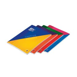 OXFORD SCHOOL CAP I CUA A4 Tapa blanda Libreta grapada reversible 4x4 60 Hojas tapa bicolor con colores surtidos