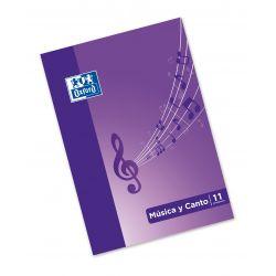 OXFORD SCHOOL MUSICA & CANTO A4 Tapa blanda libreta grapada 24 páginas  5x5 + 24 páginas con 11 pentagramas de interLíneado 2 mm total 48 páginas (24 hojas) con ilustracion en la tapa