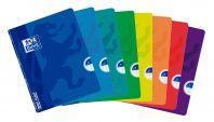 OXFORD SCHOOL CLASSIC OPENFLEX A4 Tapa de plástico libreta grapada 1 Línea con 2 margenes 48 Hojas colores surtidos