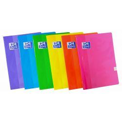 OXFORD SCHOOL CLASSIC A5 Tapa blanda libreta grapada 5x5 con 2 margenes 48 Hojas colores surtidos