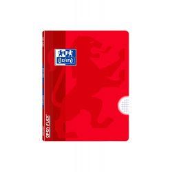OXFORD SCHOOL CLASSIC OPENFLEX A5+ Tapa de plástico libreta grapada 4x4 con margen 48 Hojas ROJO
