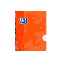 OXFORD SCHOOL CLASSIC OPENFLEX A5+ Tapa de plástico libreta grapada 4x4 con margen 48 Hojas NARANJA