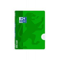 OXFORD SCHOOL CLASSIC OPENFLEX A5+ Tapa de plástico libreta grapada 4x4 con margen 48 Hojas colores VERDE