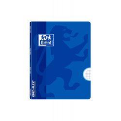 OXFORD SCHOOL CLASSIC OPENFLEX A5+ Tapa de plástico libreta grapada 4x4 con margen 48 Hojas colores AZUL