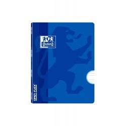 OXFORD SCHOOL OPENFLEX A5+ Tapa de plástico libreta grapada Pauta 3,5 con margen 48 hojas AZUL