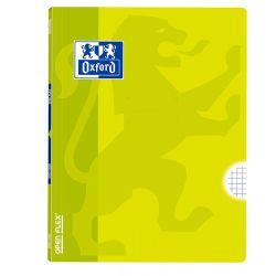 OXFORD SCHOOL CLASSIC OPENFLEX A4 Tapa de plástico libreta grapada 4x4 con margen 48 Hojas LIMA