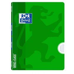OXFORD SCHOOL CLASSIC OPENFLEX A4 Tapa de plástico libreta grapada 4x4 con margen 48 Hojas VERDE