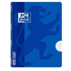 OXFORD SCHOOL CLASSIC OPENFLEX A4 Tapa de plástico libreta grapada 4x4 con margen 48 Hojas AZUL