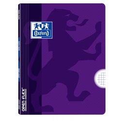 OXFORD SCHOOL CLASSIC OPENFLEX A4 Tapa de plástico libreta grapada 4x4 con margen 48 Hojas LILA