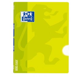 OXFORD SCHOOL OPENFLEX A4 Tapa de plástico libreta grapada LISO 48 Hojas Lima