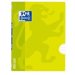 OXFORD SCHOOL CLASSIC OPENFLEX A4 Tapa de plástico libreta grapada 1 Línea con margen 48 Hojas Lima