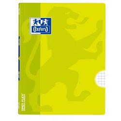 OXFORD SCHOOL CLASSIC OPENFLEX A4 Tapa de plástico libreta grapada 5x5 con margen 48 Hojas LIMA
