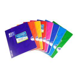 OXFORD SCHOOL CLASSIC OPENFLEX A5+ Tapa de plástico libreta grapada 5x5 con margen 48 Hojas colores surtidos