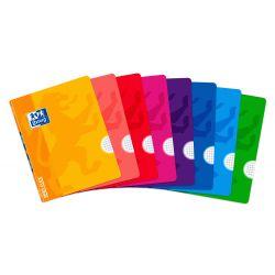 OXFORD SCHOOL CLASSIC OPENFLEX A5+ Tapa de plástico libreta grapada 4x4 con margen 48 Hojas colores surtidos