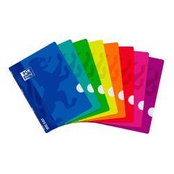 OXFORD SCHOOL CLASSIC OPENFLEX A4 Tapa de plástico libreta grapada 4x4 con margen 48 Hojas colores surtidos