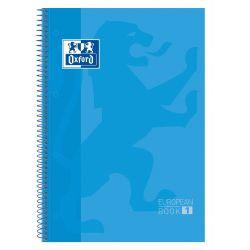 OXFORD SCHOOL CLASSIC A4+ Tapa Extradura Europeanbook 1 5x5 80 Hojas TURQUESA SCRIBZEE