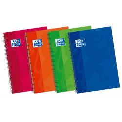 OXFORD SCHOOL CLASSIC 4º Tapa Extradura cuaderno espiral 1 Línea con margen 80 Hojas colores surtidos