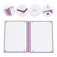 OXFORD SCHOOL CLASSIC A4+ Tapa Extradura Europeanbook 1 5x5 80 Hojas MORADO SCRIBZEE