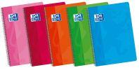 OXFORD SCHOOL CLASSIC 4º Tapa Blanda cuaderno espiral Pauta 2,5 con margen 80 Hojas colores surtidos