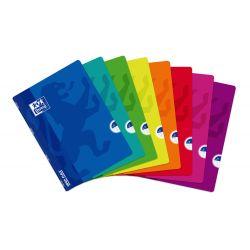 OXFORD SCHOOL CLASSIC OPENFLEX A4 Tapa de plástico libreta grapada 1 Línea con margen 48 Hojas colores surtidos