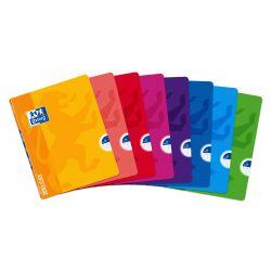 OXFORD SCHOOL CLASSIC OPENFLEX A5+ Tapa de plástico libreta grapada 1 Línea con margen 48 Hojas colores surtidos
