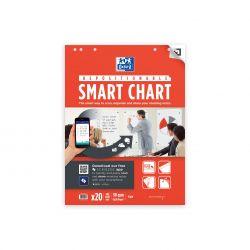 OXFORD Smart Chart 60x80 cm bloc para pizarra reposicionable encolado Liso 20 Hojas compatible con SCRIBZEE®