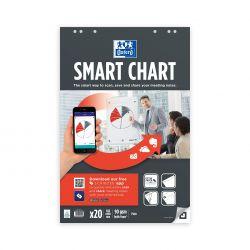 OXFORD Smart Chart 65x98 cm bloc para pizarra encolado Liso 20 Hojas compatible con SCRIBZEE®