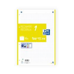 OXFORD SCHOOL A4 Recambio Paquete con 1 color de banda 5x5 100 Hojas LIMA SCRIBZEE
