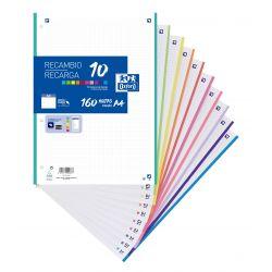 OXFORD SCHOOL A4 Recambio Paquete con 10 colores de banda 5x5 160 Hojas SCRIBZEE