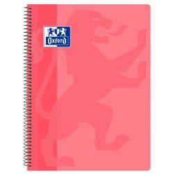 OXFORD SCHOOL CLASSIC Fº Tapa de plástico cuaderno espiral 4x4 con margen ROSA CHICLE