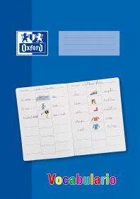 OXFORD SCHOOL VOCABULARIO A4 Tapa Blanda Libreta grapada con rayado especial 16 Hojas Azul