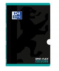 OXFORD SCHOOL OPENFLEX COLOURS A4 Tapa de plástico libreta grapada 1 Línea con 2 márgenes 48 Hojas negro con bandas de color horizontales ICE MINT