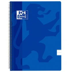 OXFORD SCHOOL CLASSIC Fº Tapa de plástico cuaderno espiral 1 Línea con margen 80 Hojas AZUL MARINO