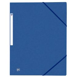 OXFORD Top File+ carpeta de gomas 3 solapas AZUL