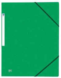OXFORD Top File+ carpeta de gomas 3 solapas VERDE