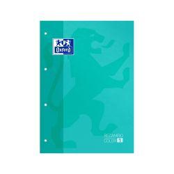 OXFORD CLASSIC Recambio Color 1 A4 Tapa Blanda Bloc encolado 5x5 80 Hojas SCRIBZEE ICE MINT