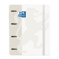 OXFORD SCHOOL CLASSIC A4+ Europeanbinder Lomo 45mm 4Dx35 con Recambio 100 Hojas 5x5 Blanco