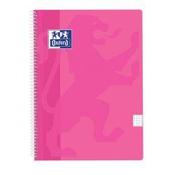 OXFORD SCHOOL CLASSIC Fº Tapa de plástico Cuaderno Espiral 4x4 con margen 80 Hojas LAVANDA PASTEL