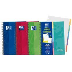 OXFORD SCHOOL CLASSIC A4+ Tapa Extradura Euroopeanbook 5 5x5 100 Hojas con 5 pestañas troqueladas - Surtido