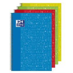 OXFORD SCHOOL CLASSIC ASIGNATURAS WRITE&ERASE Fº Tapa Extradura Cuaderno espiral con pizarra en el interior de las 2 tapas 4x4 con margen 80 Hojas MATEMÁTICAS Colores Surtidos