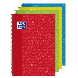 OXFORD SCHOOL CLASSIC ASIGNATURAS WRITE&ERASE Fº Tapa Extradura Cuaderno espiral con pizarra en el interior de las 2 tapas 4x4 con margen 80 Hojas LENGUA Colores Surtidos