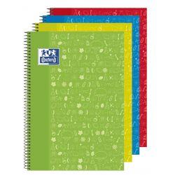 OXFORD SCHOOL CLASSIC ASIGNATURAS WRITE&ERASE Fº Tapa Extradura Cuaderno espiral con pizarra en el interior de las 2 tapas 4x4 con margen 80 Hojas CIENCIAS NATURALES Colores Surtidos