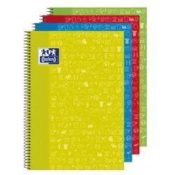 OXFORD SCHOOL CLASSIC ASIGNATURAS WRITE&ERASE Fº Tapa Extradura Cuaderno espiral con pizarra en el interior de las 2 tapas 4x4 con margen 80 Hojas CIENCIAS SOCIALES Colores Surtidos