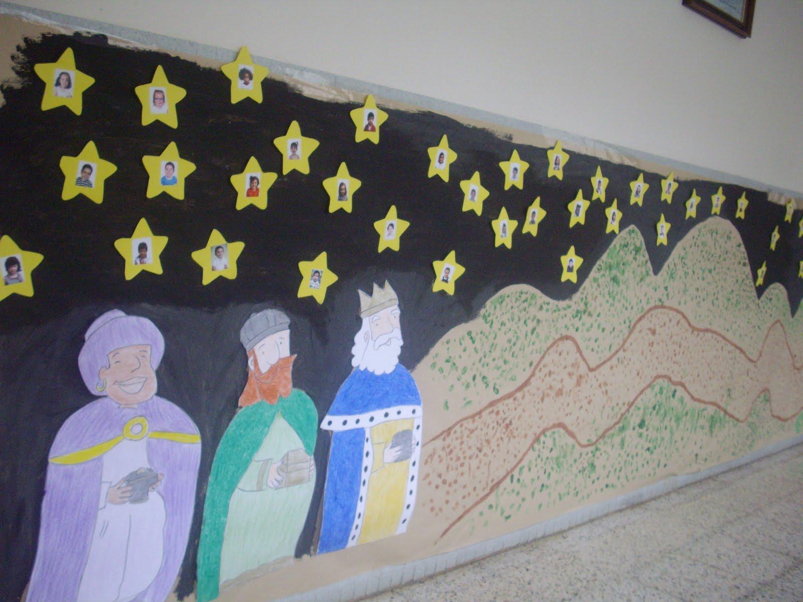 Decora el aula para navidad el aula de papel oxford for Como decorar un mural