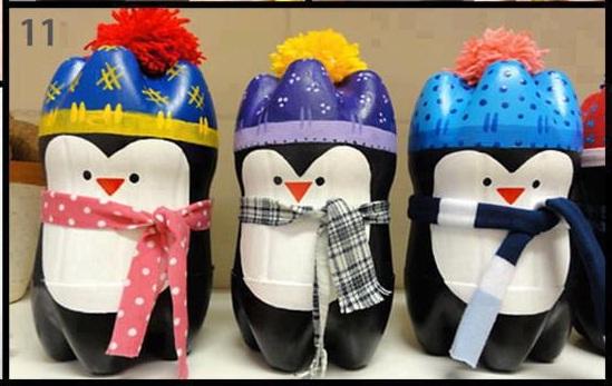 Pinguinos navideños - Imagui