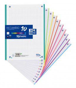400106627_RECAMBIO-10-COLORES-PAQUETE-160H-A4-5X5_CON-HOJAS