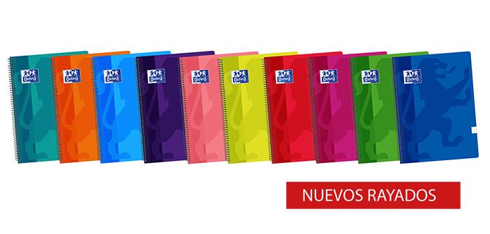 Elige para tus alumnos el tipo de cuaderno, color y rayado que prefieras